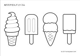 無料の塗り絵アイスクリームの検索結果 ぬりえやさんドットコム