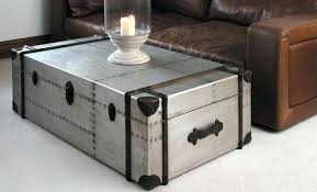 table steel trunk coffee table design ideas steamer stainless tablet with keyboard