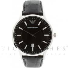 mens armani watches from ticwatches co uk emporio now on ar2411 armani black leather men s watch
