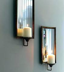 mirror wall candle holders mirror wall candle holders mirrored wall sconce candle holder silver mirror wall