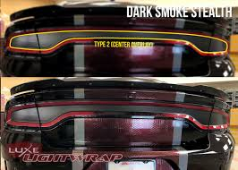 Dodge Charger Back Lights 2015 Charger Tail Light Tint Kit Type 1 Side Overlays