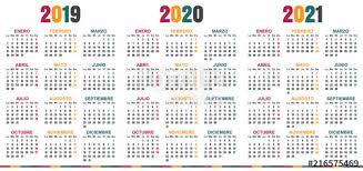 Photoshop Calendar Template 2020 Spanish Planning Calendar 2019 2021 Week Starts On Monday