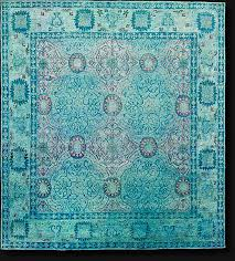 overdyed silk rug color reform india
