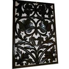 black wooden carved wall panel rs 160