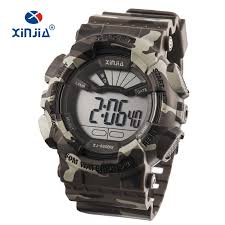 2020 New XINJIA <b>Military Watches</b> Army Camouflage <b>Sports</b> LCD ...