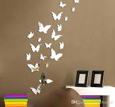 wall art decor stickers set erfly mirror effect wall decal sticker home decoration wall art decor