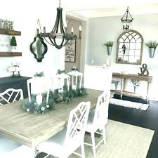 farmhouse dining room chandelier table rooms