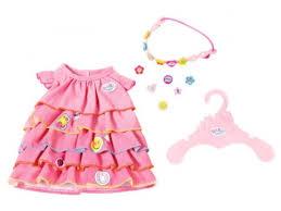 Купить <b>одежду для кукол</b> Платье и ободок для Baby Born <b>Zapf</b> ...