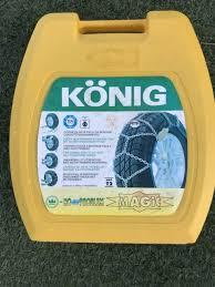 Konig T2 Magic Snow Chains Size Chart Snow Chains Konig Magic T2 Other Parts Accessories