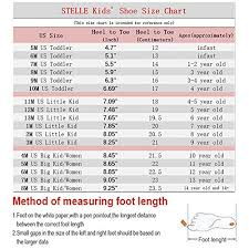 Big Kids Shoe Size Chart Stelle Girls Canvas Ballet Slipper Ballet Shoe Yoga Dance