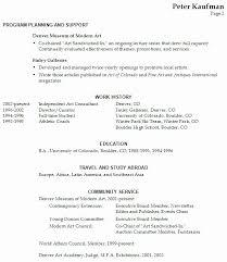 Performing Arts Resume Casual 50 Elegant Performing Arts Resume
