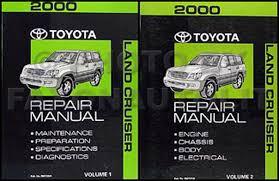 search 2000 toyota land cruiser repair manual original set