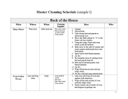 Home Schedule Template Daycare Your Cleaning House Uk