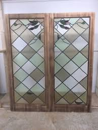 stained glass doors antique period