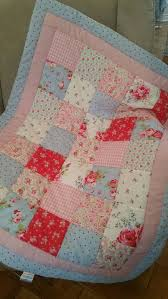 722 best Baby / children's quilts & cushions images on Pinterest ... & Handmade Vintage Style Cath Kidston fabrics Baby Quilt Shabby Chic Handmade  Patchwork Cot Quilt Adamdwight.com