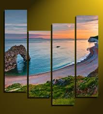 4 piece canvas wall art home decor ocean large pictures beach artwork  on beach framed canvas wall art with 4 piece large pictures ocean canvas wall art beach multi panel art