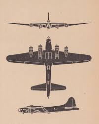 the pacific war online encyclopedia b 17 flying fortress three view diagram of b 17 from recognition manual
