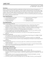 Sample Resume For Medical Laboratory Technician Billigfodboldtrojer