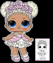 Coloring Pages Of Waves Flower Child Series 3 L O L Surprise Doll