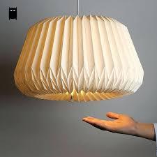 ceiling lights paper lantern ceiling light fixture handmade white origami shade pendant cord creative art