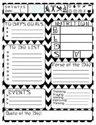 Daily Journal Planner Free Daily Journal Planner Page