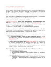 Notes Sur Le Droit Des R Gimes Matrimoniaux 1 Partie Docsity