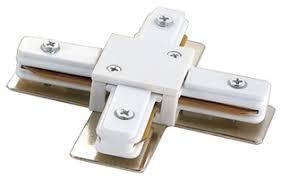 Крестовидный <b>соединитель</b> шинопровода белый Volpe, <b>UBX</b> ...