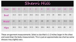 Dress Sizing Info For Sherri Hill Mac Duggal Angela
