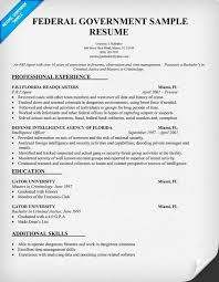 Government Resume Samples  cover letter federal jobs resume sample