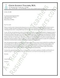 Science Teacher Cover Letter Sample All Things Educational And