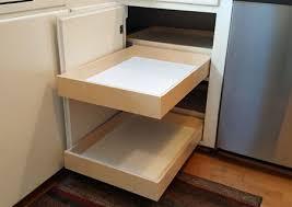 blind corner cabinet rollout sliding shelves
