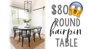 There are 3421 hairpin coffee table for sale on etsy, and they cost 96,59 $ on average. Diy Round Hairpin Table Youtube