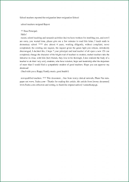 Resigned Format Format Of Resignat Resignation Letter Format Of School Teacher