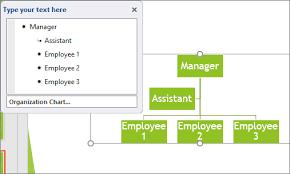Create An Organization Chart Using Smartart Graphics The