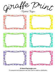 Name Templates Printable Name Tag Templates Word Download Free Editable Printable