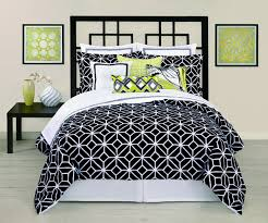 total fab modern black and white geometric themed bedding and