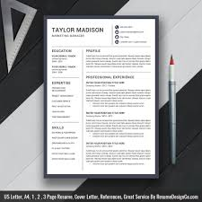 Professional Resume Template 2019 Cv Template Cover Letter Graduate Student Resume Ms Office Word Resume Instand Download Taylor