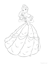 Disney Coloring Pages Princess Belle Ng Pages Princess Pictures