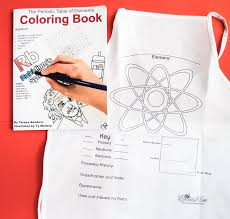 The Periodic Table of Elements Coloring Book and ScienceWear Apron ...