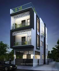 Duplex Designs On Half Plot Of Land As Flats Modern House Plans Facade House Narrow House