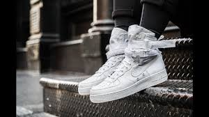 womens nike air force 1 white. Womens Nike Air Force 1 Boots Grey; Unboxing SF Special Field WMNS Light Bone Winter - YouTube White