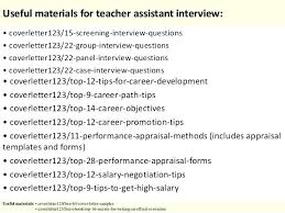 Cover Letter For Teaching Assistant Promotions Assistant Cover Letter