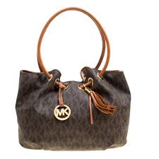 michael michael kors brown signature canvas ring tassel tote nextprev prevnext