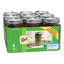 ball 4 oz mason jars. ball 1-1/2pt wide mouth mason jars (1440065500) - 9 pack 4 oz p