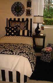 black and white damask teen dorm room bedding