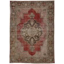 retro area rugs elegant distressed vintage turkish oushak area rug with modern