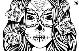 Stylish Idea Sugar Skull Coloring Pages Printable Skulls Page Adult