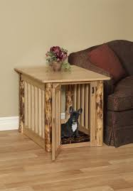 small dog crate end table