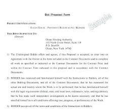Free Construction Bid Proposal Template Download Board Proposal Template Contract Sample Web Design Meeting Writing A