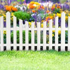 3 piece white picket fence garden